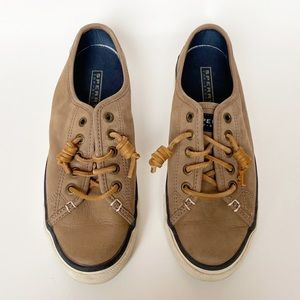 Sperry Top - Sider Seacoast Nubuck Taupe Sneakers